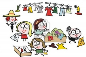 9929891-vector-cartoon-of-women-at-clothing-sale